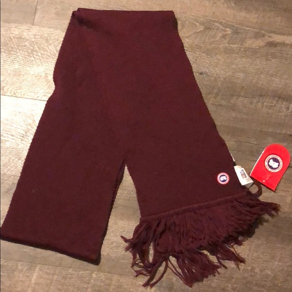 canada goose red scarf